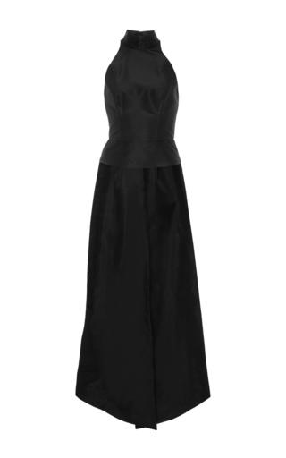 Medium monique lhuillier black sleeveless halter top