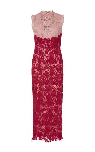 Medium monique lhuillier red sleeveless midi dress
