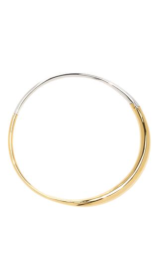 Medium charlotte chesnais metallic silver and gold boi necklace