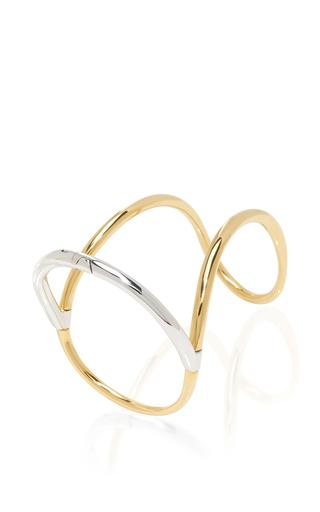 Silver And Gold Bond Neo Bracelet by CHARLOTTE CHESNAIS Now Available on Moda Operandi