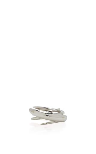 Medium charlotte chesnais silver silver hurly burly ring