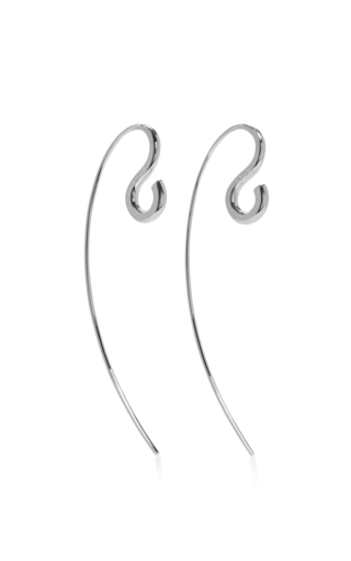 Medium charlotte chesnais silver large hook earrings