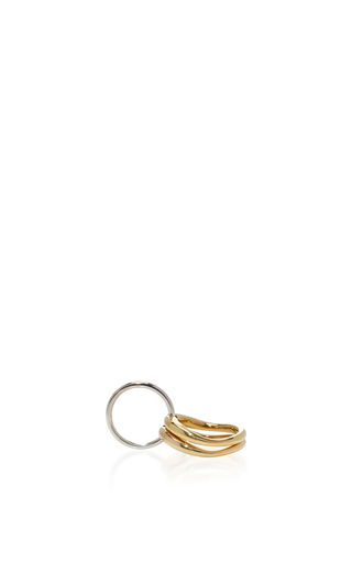 Medium charlotte chesnais metallic silver and gold neo lover ring