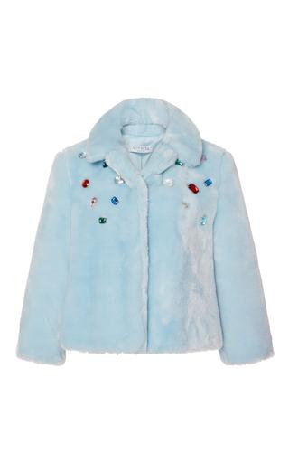Medium vivetta light blue ofride faux fur jacket