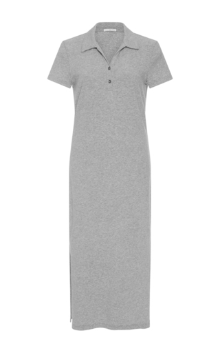 Medium james perse light grey collard midi dress