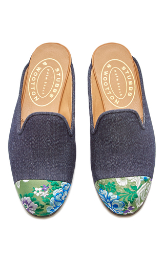 Medium stubbs wootton navy chester denim mule