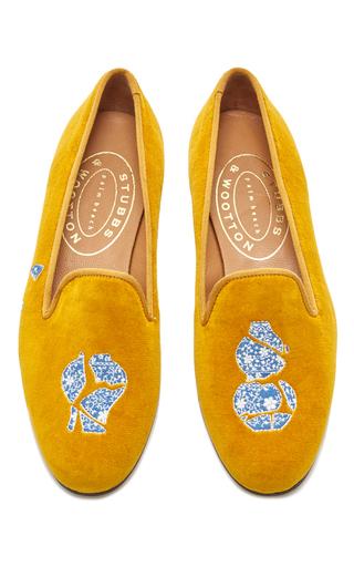 Medium stubbs wootton yellow broken ming slipper