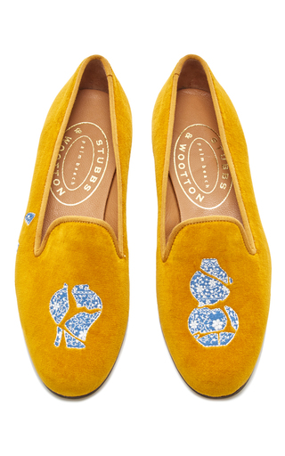 Medium stubbs wootton yellow broken ming slipper