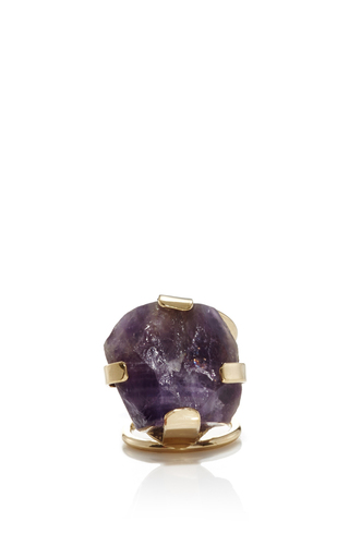 Medium elie saab purple amethyst ring