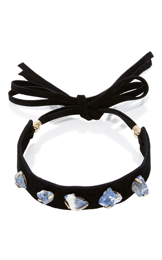 Medium elie saab blue crystal studded choker
