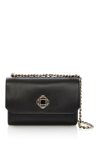 Medium elie saab black tassel strap shoulder bag