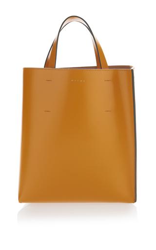 Medium marni tan leather shopping bag
