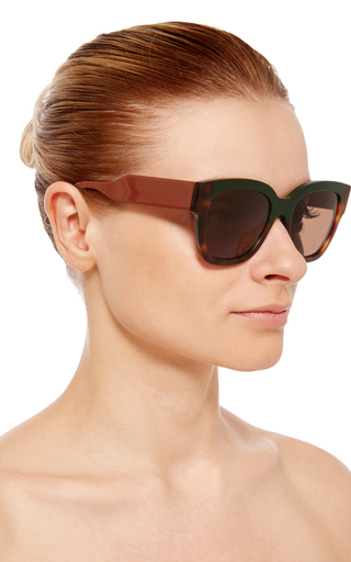 Two Tone Sunglasses by MARNI Now Available on Moda Operandi