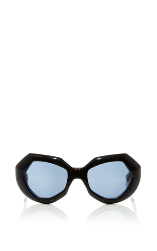 Medium marni black geometric sunglasses