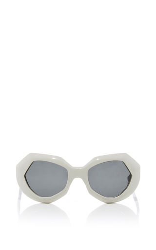Medium marni white geometric sunglasses 2