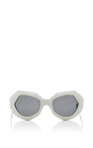 Medium marni white geometric sunglasses 2