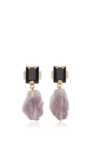 Medium marni purple amethyst drop earrings