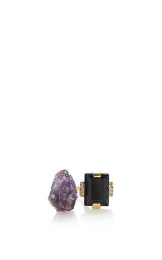 Medium marni purple amethyst ring