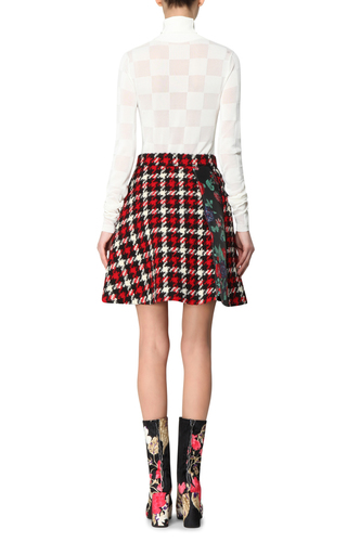 Checkerboard Turtleneck Sweater by MSGM Now Available on Moda Operandi