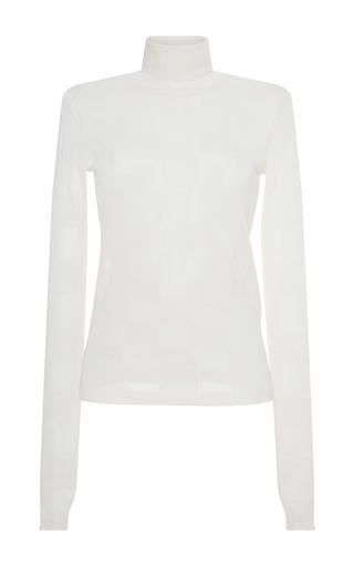 Medium msgm white checkerboard turtleneck sweater
