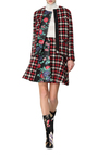 Houndstooth Plaid Jacket by MSGM Now Available on Moda Operandi