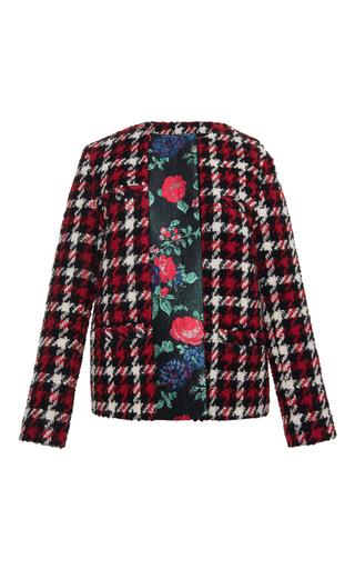 Medium msgm plaid houndstooth plaid jacket