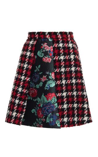 Medium msgm plaid houndstooth plaid mini skirt