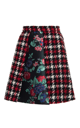 Medium msgm plaid houndstooth plaid mini skirt