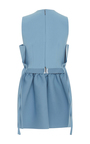 Ruffle Peplum Tunic by MSGM Now Available on Moda Operandi