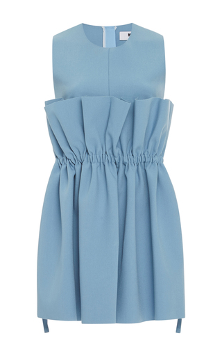 Medium msgm blue ruffle peplum tunic