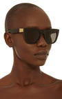 Gals Black Sunglasses by SUPER BY RETROSUPERFUTURE Now Available on Moda Operandi