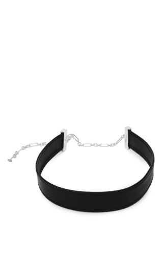 Medium sophie buhai black leather choker
