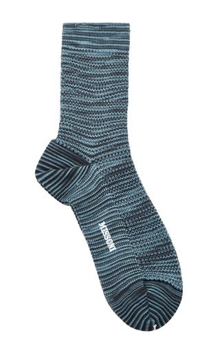 Blue Melange Socks by MISSONI Now Available on Moda Operandi