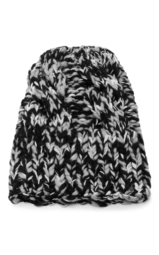 Medium missoni black white wool beanie