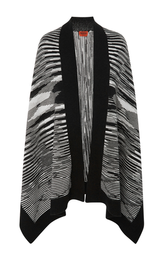 Medium missoni black white wool shawl