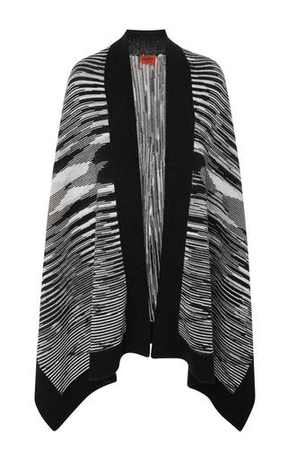 Medium missoni black white wool shawl