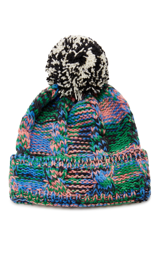 Medium missoni multi wool pompom beanie