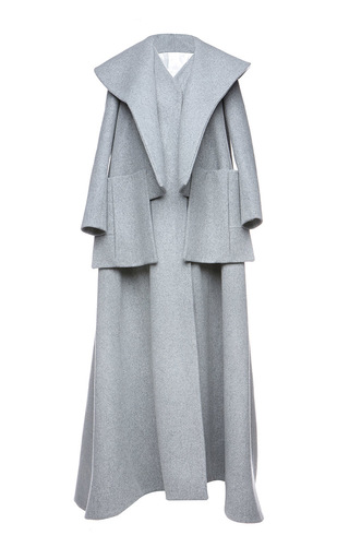 Medium dice kayek light grey layered oversized coat