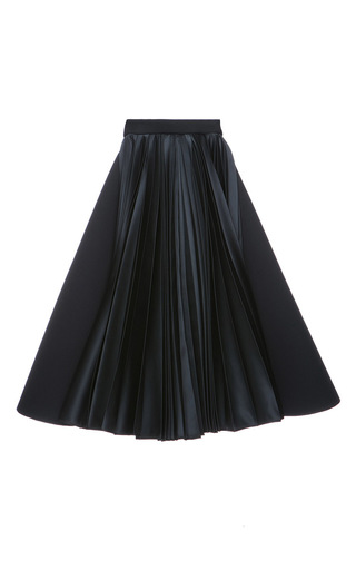 Medium dice kayek black pleated midi skirt  2