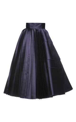 Medium dice kayek purple pleated midi skirt  3