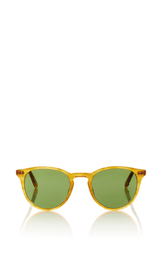 Medium garrett leight brown butterscotch milwood sunglasses