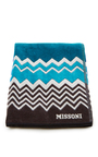 Rufus Blue Multicolored Beach Towel  by MISSONI Now Available on Moda Operandi