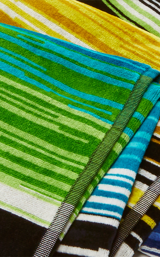 Stanley Green Multicolored Beach Towel  by MISSONI Now Available on Moda Operandi