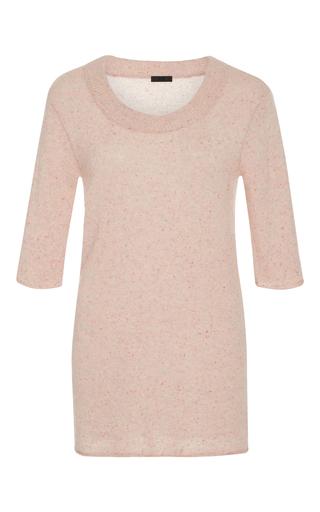 Medium atm light pink speckled cashmere sweater