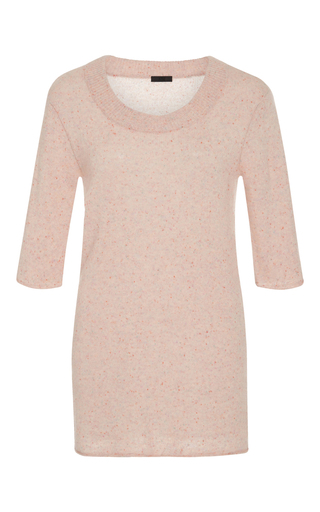 Medium atm light pink speckled cashmere sweater