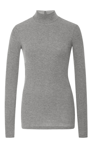 Medium atm light grey long sleeve mock neck t shirt