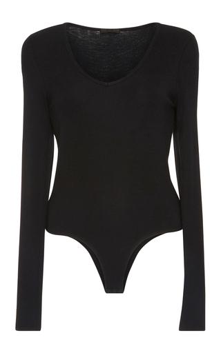 Medium atm black micro modal bodysuit