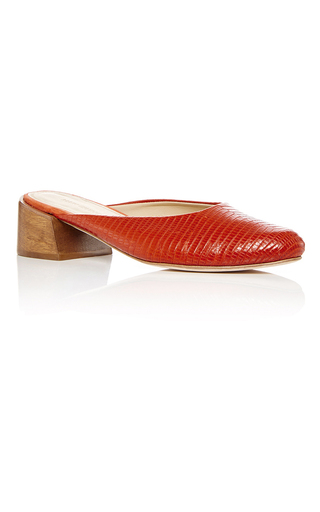 Medium mari giudicelli red leblon mules  3
