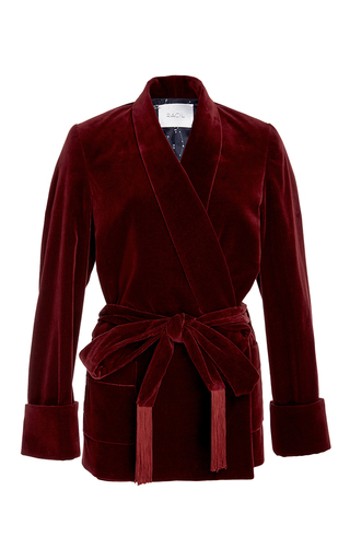 Medium racil burgundy orion burgundy velvet jacket