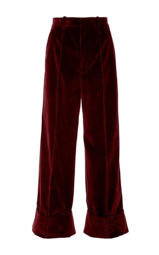 Medium racil burgundy leo burgundy velvet trousers